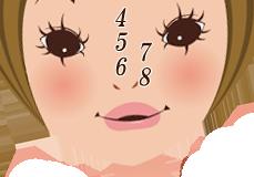鼻の位置にある「ほくろ」を診断