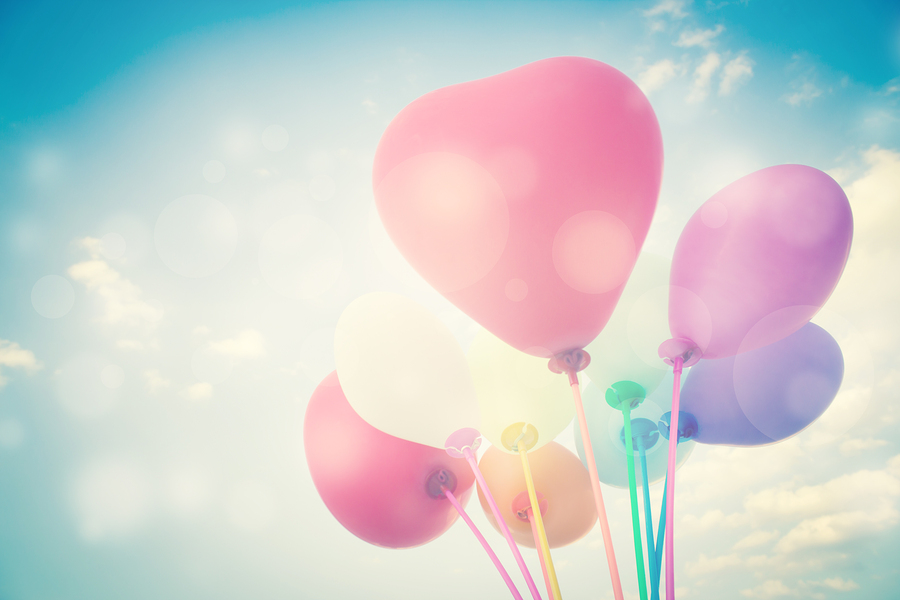 Heart Shape Balloons Background