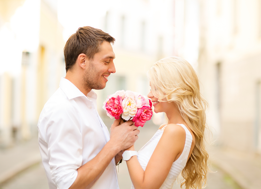 summer holidays, love, relationship and dating concept - couple