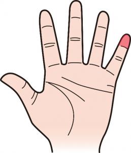 第一関節|小指のほくろ占い