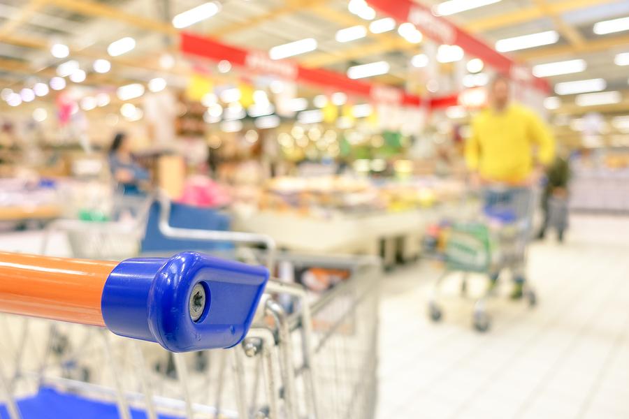Blurred Defocused Grocery Supermarket - Consumerism Concept In P