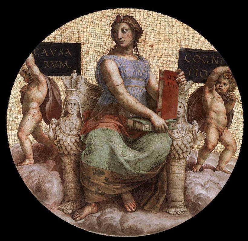 【彼の心を見通す目をアナタに】バチカン市国 宮殿のラファエロの間 4女神その3【真理の女神】【カルロッタの解決タロット占い】