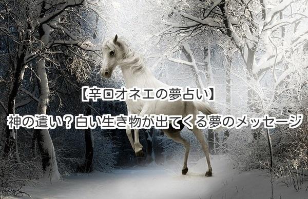 【辛口オネエの夢占い】神の遣い?白い生き物が出てくる夢のメッセージ(1)超意外!実は「警告」かも