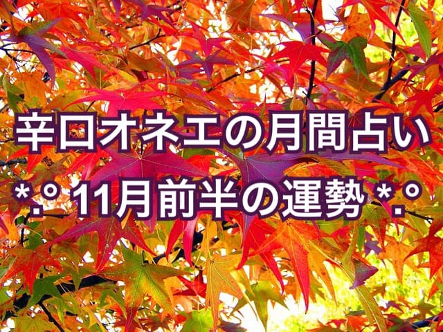 【辛口オネエ】11月前半の運勢◆牡羊座・獅子座・射手座