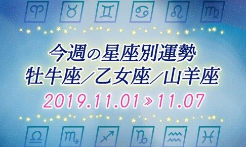 ≪牡牛座/乙女座/山羊座≫今週の運勢*11月1日~11月7日