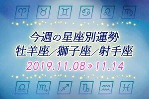 ≪牡羊座/獅子座/射手座≫今週の運勢*11月8日~11月14日