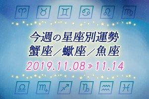 ≪蟹座/蠍座/魚座≫今週の運勢*11月8日~11月14日