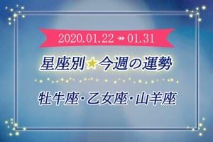 ≪牡牛座/乙女座/山羊座≫今週の運勢*1月22日~1月31日