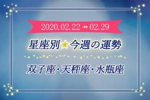 ≪双子座/天秤座/水瓶座≫今週の運勢*2月22日~2月29日